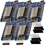 AZDelivery 5 x D1 Mini NodeMcu mit ESP8266-12F WLAN Module CH340G Lua kompatibel mit Arduino inklusive E-Book!