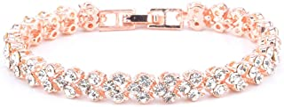 🍀Libobo🍀New Fashion Roman Style Woman Crystal Diamond Bracelets Gifts