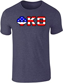 Fashion Greek Phi Kappa Theta American Flag T Shirt