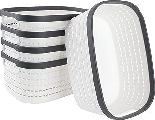 STARVA ST Lot de 5 Paniers de Rangement en Plastique, Boîtes de Rangement de Bureau de Panier de Réfrigérateur de Cuisine ...