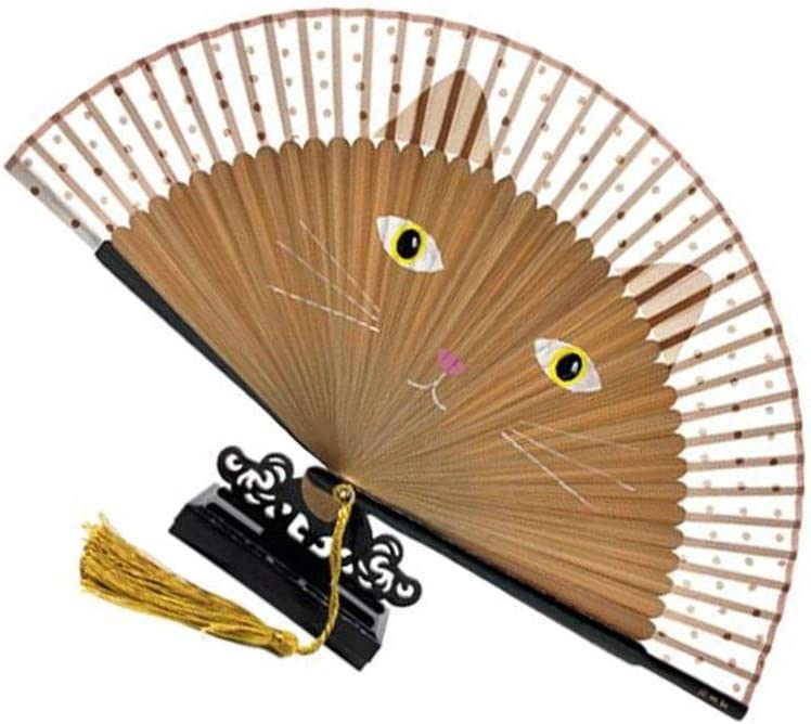 FOLDING Fan Milwaukee Mall Hand with Max 80% OFF Bamboo for Chil Cartoon Cute