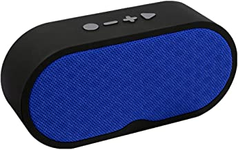 ERLIANG Hands-Free Calling Bluetooth Speaker Portable Wireless Card Radio Bluetooth Audio with HD Sound and Bass,Blue photo