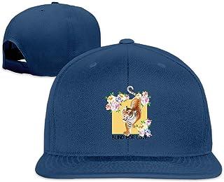 Unisex Fashion Waking The Tiger Blind for Love Baseball Caps Buckle Design Adjustable Trucker Hat Black