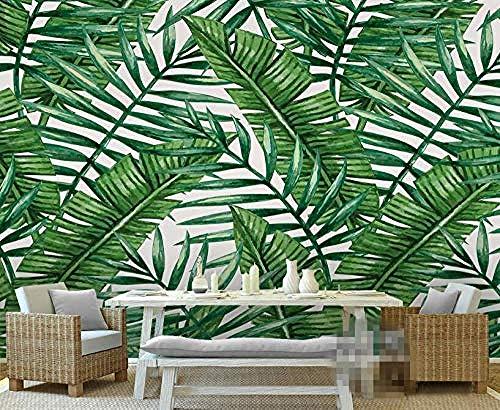 3D Wallpaper Green Mittelmeer Pflanze Einfaches Wohnzimmer Schlafzimmer TV Hintergrund Wandbild Foto Wallpaper für Wanddekoration fototapete 3d Tapete effekt Vlies wandbild Schlafzimmer-430cm×300cm