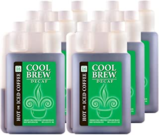 Cool Brew Fresh Coffee Concentrate - Decaf 6x500 ml - Make Iced Coffee or Hot Coffee - Enough for 96 drinks