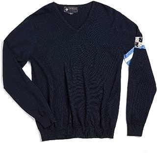 Kingsland Equestrian Men's Hanford 100% Cotton V-Neck Sweater -Navy
