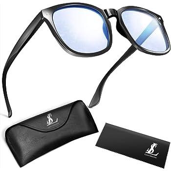 Luxis ブルーライトカット メガネ ブルーライト ウェリントン ずれ落ち防止 ハードケース付き