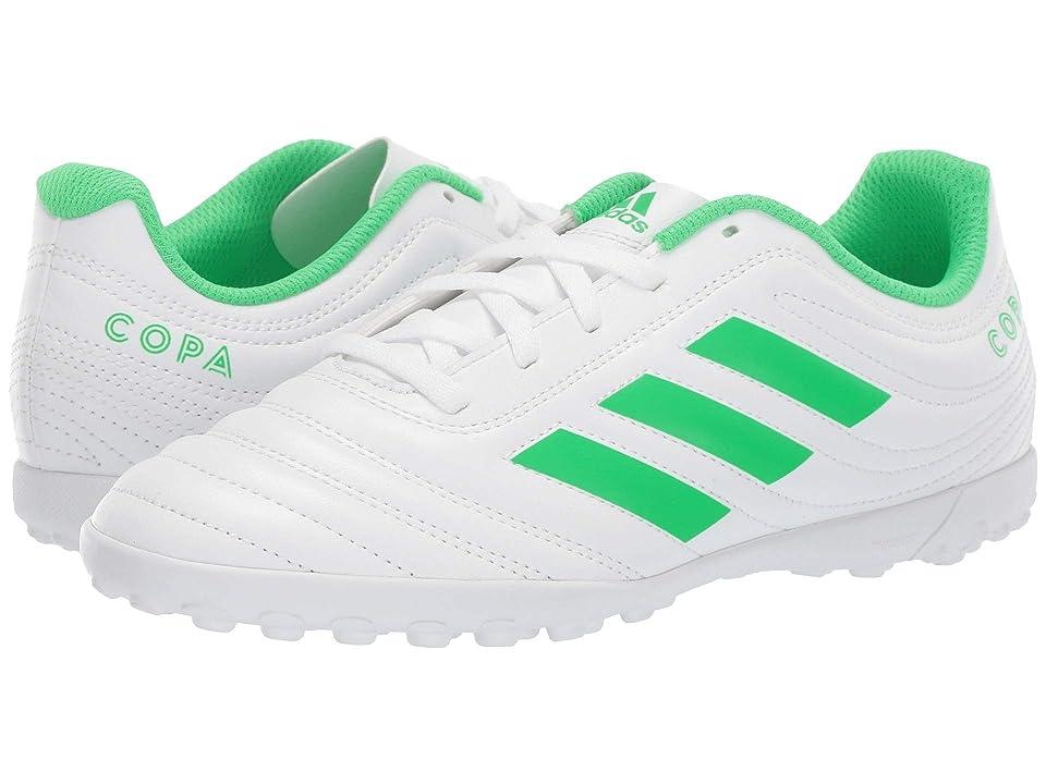 adidas Kids Copa 19.4 TF Soccer (Little Kid/Big Kid) (White/Solar Lime) Kids Shoes