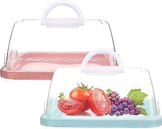 MHwan boîtes de transport de gâteaux ronds, Conteneur à Gâteaux, Portable Boîte à gâteaux portable avec couvercle Poignée ...