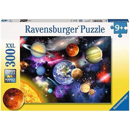 Ravensburger- Puzzle 300 pièces XXL-Système Solaire Pluto Enfant, 4005556132263