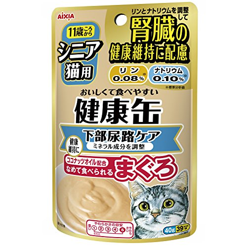 健康缶シニア猫用健康缶パウチ下部尿路ケア40g×12袋入り