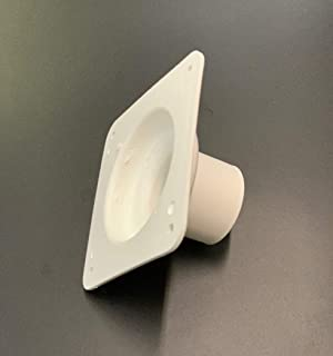 A.A Battery Box Vent System Cone Plate - White - RV's, Campers, Trailers, Motorhome Repair (Cone Plate, White)