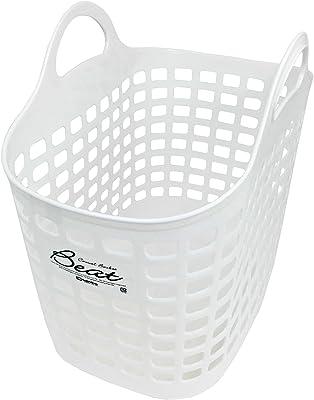 サンコープラスチック ランドリーバスケット ビートNo.1 ホワイト