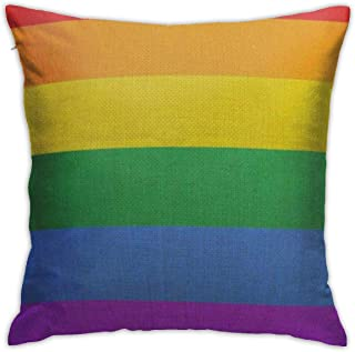 mallcentral-EU Fundas de cojín, Fundas de cojín Orgullo Bandera Gay Signo LGBT Cultura Símbolo Rainbow Love