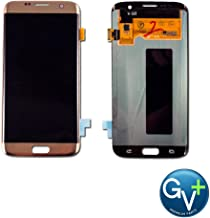 Group Vertical Replacement AMOLED Touch Digitizer Screen Assembly Compatible with Samsung Galaxy S7 Edge (Gold Platinum) (SM-G935) (GV+ Performance)