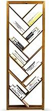 LHQ-HQ Kids Book Shelf Boekenplank creatieve bamboe eenvoudige boom boekenplank, vloer staande boekenkast, industriële boe...