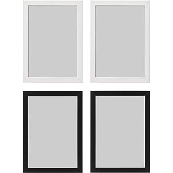 Ikea FISKBO Marco de fotos (A4, 21 x 30 cm), color blanco y negro