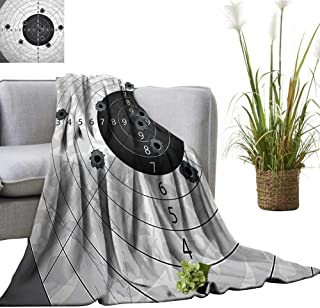 YOYI Home Fashion Blanket Gun Bullet HOL Paper Target Weap Danger Violence Themed Image Lightweight Blankets for Couch Bed Sofa 35