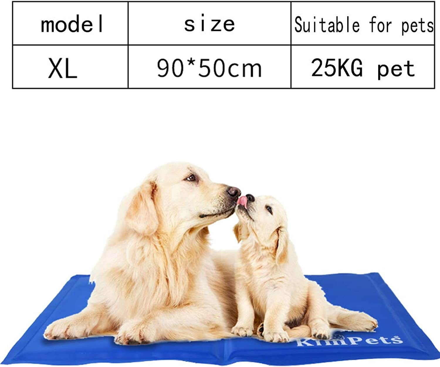 Dog Cooling Mat  Summer Gel Cooling Pad for Dogs and Cats  Avoid Overheating, Ideal for Home and Travel,XL
