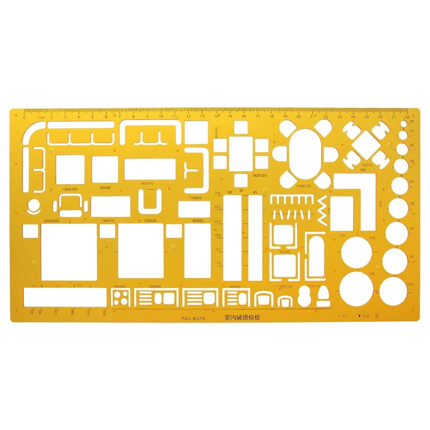 混乱したシンボル採用Daeumインテリアデコレータデザイン家具レイアウト建築テンプレート定規図面
