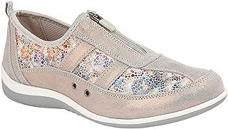 Boulevard Womens/Ladies Floral Print Suede Shoes
