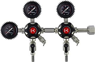 Kegco LHU5DB Elite Series Dual Body CO2 Draft Beer Regulator