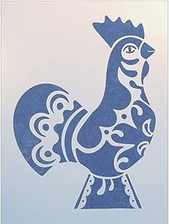 Swedish Dala Chicken Stencil - The Artful Stencil