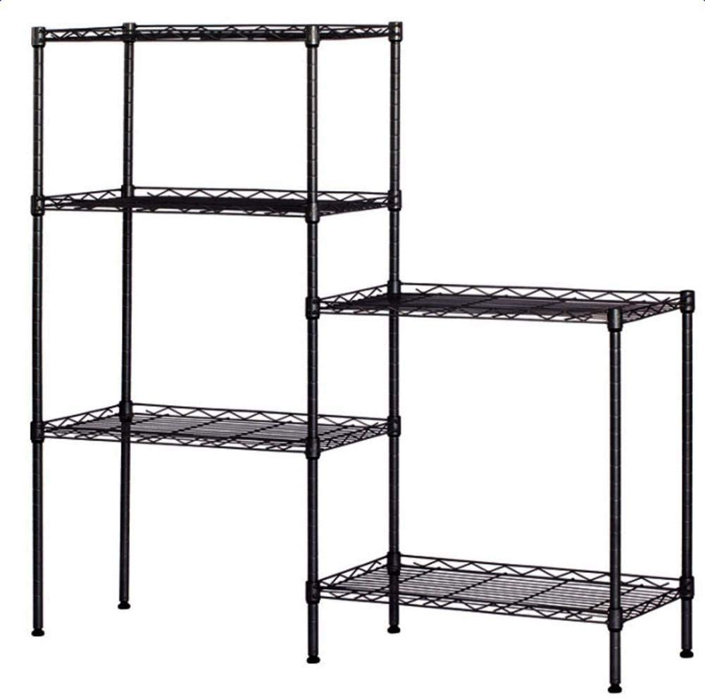 5-Tier Changeable Wire アウトレット 店舗 Shelves Floor Assembly Durable Standing