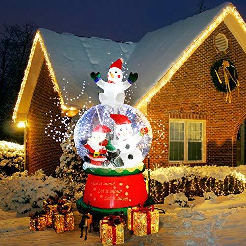 CCLIFE Muñeco hinflable navidad decoracion 120cm,150cm,180cm o 220 cm, exterior, iluminación navideña, Color:snowing man-180cm