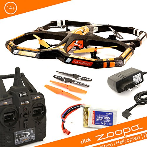 Acme - Zoopa Q 650 Rasoio Quadrocopter | 2,4 GHz Telecomando | 360 Gradi Flipfunction | Giroscopio-Sistema (Zq0660)