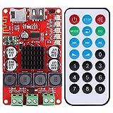Akozon Tablero del amplificador de potencia digital Bluetooth receptor de audio, con control remoto, 50W+50W TPA3116