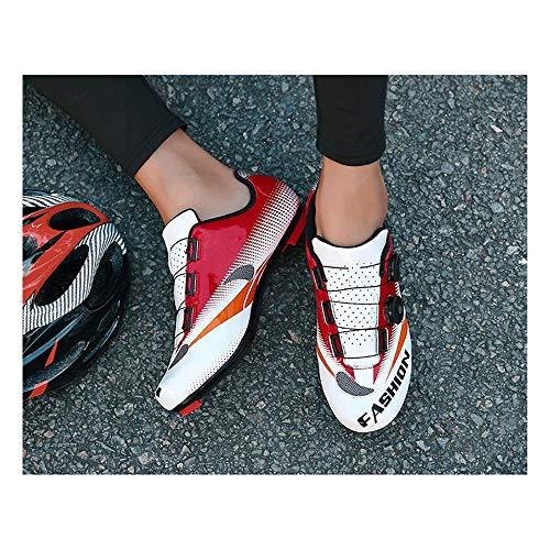 FACAI Nuevos Zapatos De Ciclismo De Carretera Pedal Plano Zapatillas Transpirables De...
