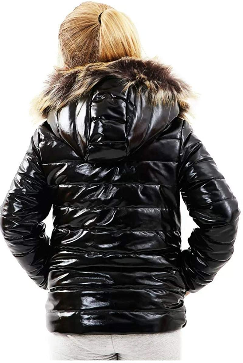 xpaccessories Childrens Boys Padded Puffer Quilted Hooded Winter Shiny Coat School Warm Jacket