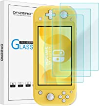 (3 Pack) Orzero Compatible for Nintendo Switch Lite Tempered Glass Screen Protector, 9 Hardness HD Anti-Scratch Full-Coverage (2.5D Arc Edges) (Lifetime Replacement Warranty)