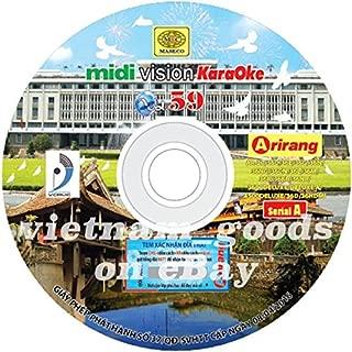 Arirang Karaoke Midi Disc Vol 59 Serial A Vietnamese English Chinese For Player Arirang AR 27C, 36C/CN, 36D, 36E, 36G, 36K, 36KR, 36L, 36M, 36N/NG, 36NR, 3600, 3600Deluxe/DeluxeA, 4500Deluxe, 36HDMI