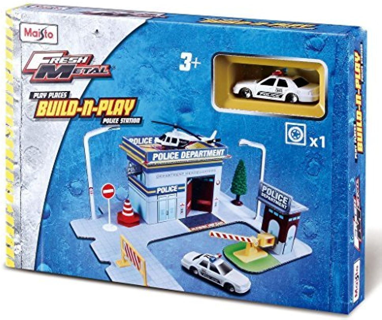 Maisto Fresh Metal Kids Police Department Build n Play Set Construction Building Toy with Police Car by HTS B01M037PP5  Billig ideal | Verschiedene Stile und Stile