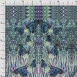 Soimoi Blau Baumwoll-Popeline Stoff Schmetterlinge &