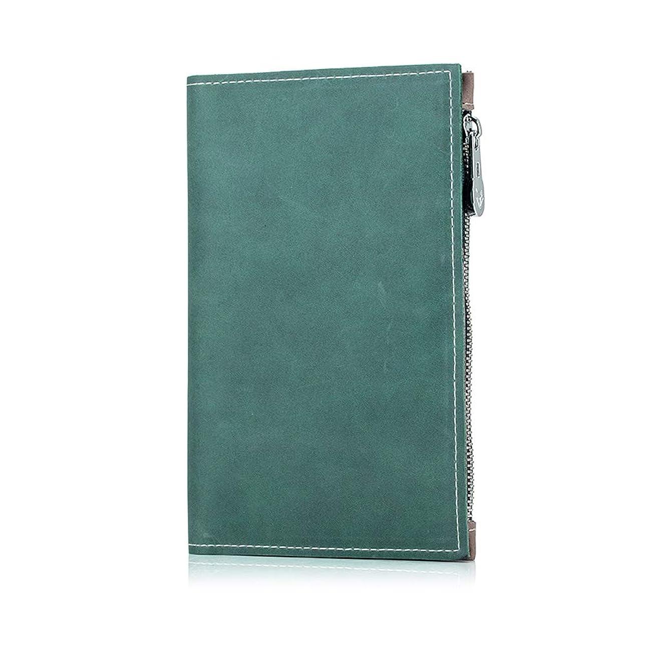 土地広告主無条件IKuaFly パスポートケース スキミング防止 皮革 多機能収納ポケット パスポートカバー クレジットカード 航空券入れ 全3色