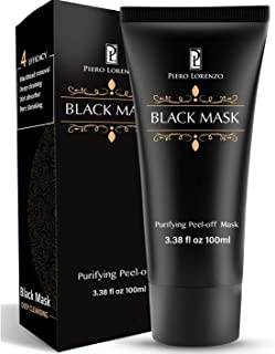 Piero Lorenzo Blackhead Mask Pure and Natural - Blackhead Mask Quality Moisturizes, Blackhead Remover Charcoal Blackhead Remover, Deep Cleansing, Pore Shrinking, Acne and Oil Control, Anti Aging 100 g