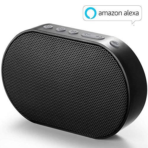 GGMM E2 Enceinte sans Fil Bluetooth WiFi Portable Mini Haut-Parleur Intelligent avec Alexa Airplay Multiroom Son Stéréo 10W Noir