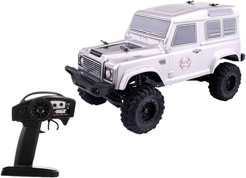 MagiDeal 1 24 2.4GHz 2CH Remote Radio Control RC Rock Crawler D90 4WD Racing Car RTR  Silver