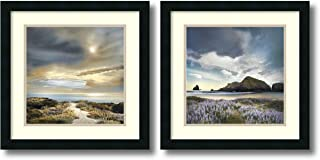 Framed Art Print, 'Sense of Direction & Sweet Illusion- set of 2' by William Vanscoy: Outer Size 18 x 18