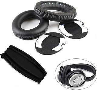 Headphone Replacement Ear Pad Cushion for Bose QuietComfort QC15 QC2 Headband - Black - CHENGZ Clearance