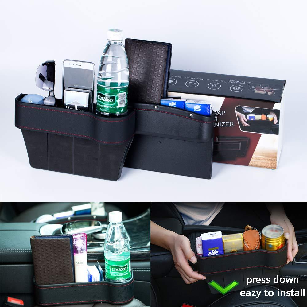 PU Leather Car Gap Filler Gap Filler for Car Seat AOZBZ Car Seat Gap Organizer Car Accessories Interior for Phones Wallet Coin Key