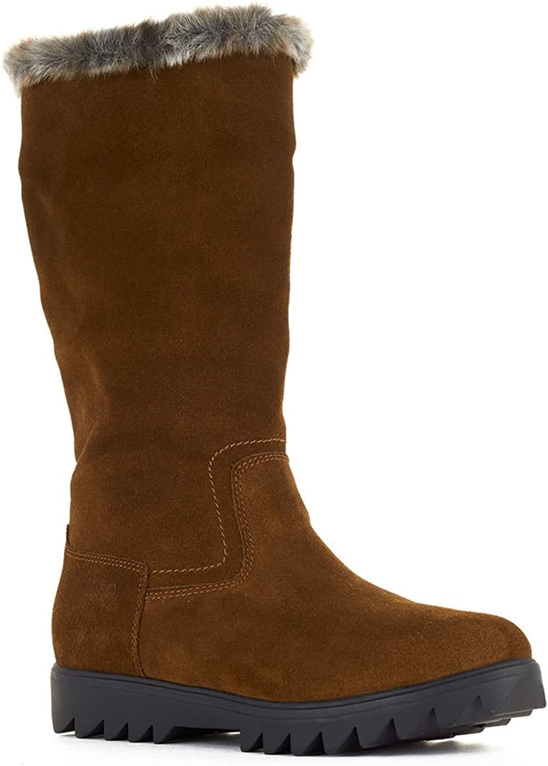 Cougar Women's Zephyr Suede Faux Fur Waterproof Winter Snow Boots Brown Size 11