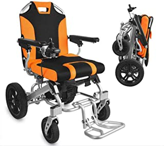 Lightweight Dual Function Foldable Power Wheelchair (Li-Ion Battery), Drive with Electric Power Or Use As Manual Wheelchair,Folding Pedal, Anti-Reverse Wheel