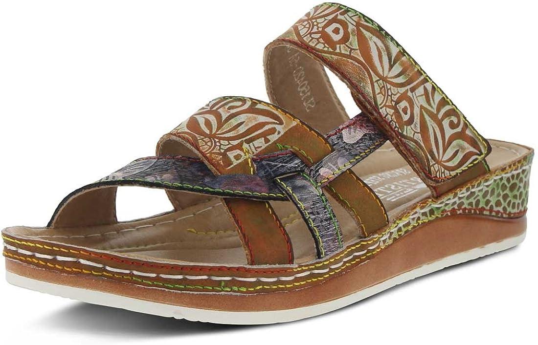 Spring Step L`Artiste Women's Caiman Slide Sandal Camel Multi EU 38 / US 7.5-8