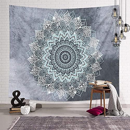Tapiz para colgar en la pared, diseño indio, color impreso, mandala bohemio, alfombra de pared, manta de playa, funda de sofá de 150 x 200 cm