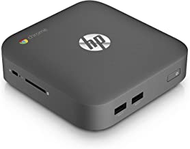HP J5N50UT Chromebox Desktop Computer (Intel Celeron 2955U 1.40 GHz 4GB RAM 16GB SSD)- Mini PC (Renewed)