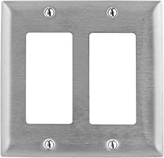 HUBBELL WIRING DEVICES - SS262 - WALL PLATE, 2 GANG, 2 DECORATOR, SST